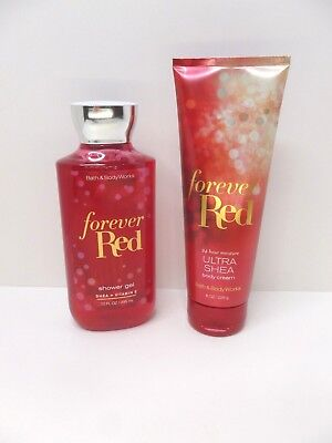 Bath & Body Works 2 piece Set, Forever Red, shower gel & lotion, NEW