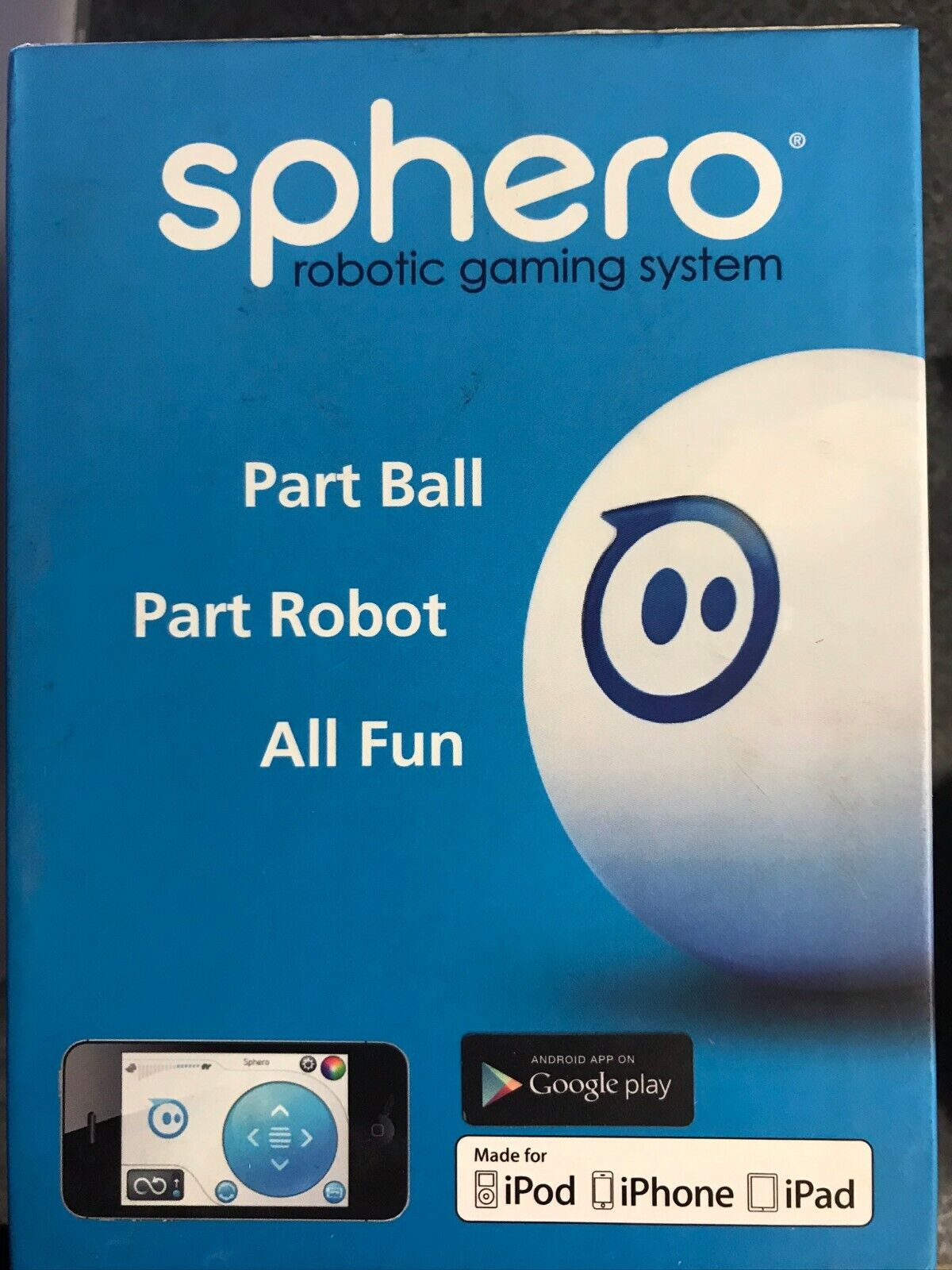 Sphero iOS and Android App Controlled Robotic Ball - White S