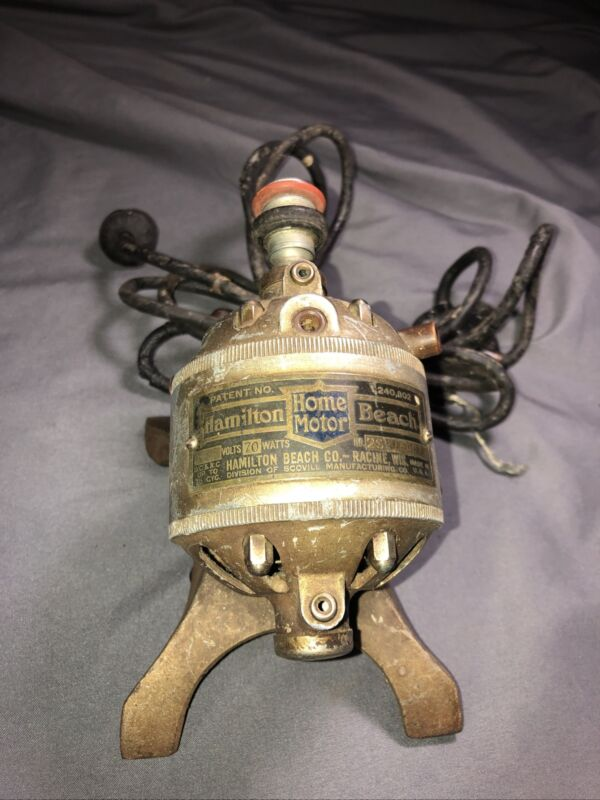 Vtg 1920s Hamilton Beach Home Motor for Parts/Repair Sewing Machine Multiuse