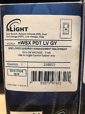 Sensor Switch Nlight Nwsx Pdt Lv Gy Occupancy Wall Switch    Nib  Free Ship