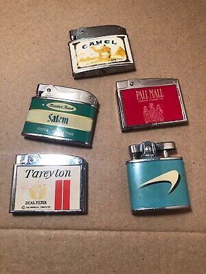 Vintage Cigarette Brand Lighters Lot Camal Salem Pall Mall Tareyton (Pall Mall Brands)