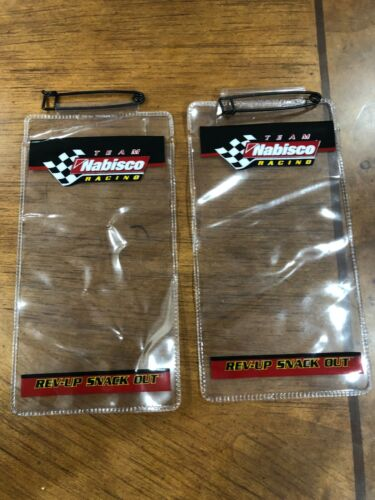 Two Vintage NASCAR Team Nabisco Racing Ticket Event Stub Holders   Never USED!!