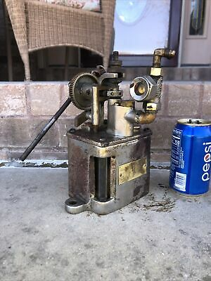 Antique Hills Mccanna Ratchet Lubricator Oiler Hit Miss Steam Engine Nice Small