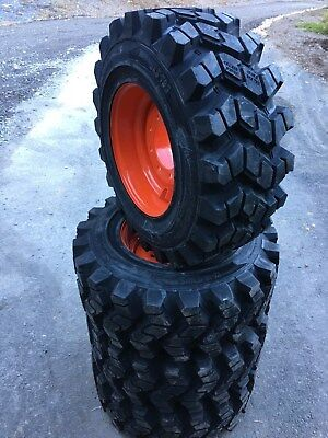 4 Hd Camso Sks753 12-16.5 Skid Steer Tireswheelsrim For Bobcat - 12x16.5