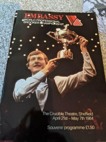 Embassy World Professional Snooker Championship 1984 Programme