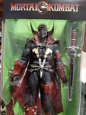 "McFarlane Toys Mortal Kombat 7"" Spawn non mint package (yes in hand)"
