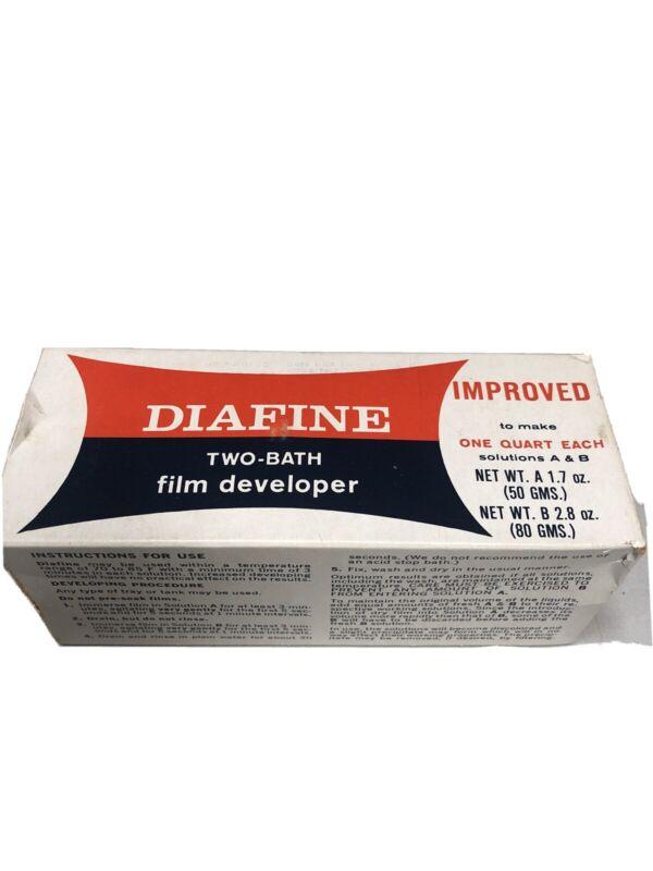 Vintage Diafine Two Bath Film Developer Sealed Cans Darkroom Chemicals Open Box