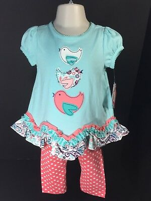 Baby Clothes Girls Nursery Rhyme Size 18M 2 PC Set Short Sleeve Top & Pants NEW for sale  Shipping to India