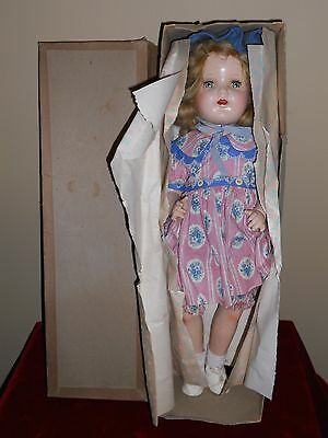 "Nancy Lee 19"" Doll Composition with Cloth Body R & B/Arranbee  Original in Box"