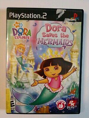 Playstation 2 PS2 DORA SAVES THE MERMAIDS 2007 Video Game - No Manual Playstation 2 Dora