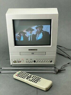 "Sylvania 6509DD 9"" CRT AUX Television Tv/dvd Combo w/ Remote, Tested (VIDEO)"