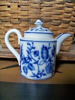 Antique German Childs Flow Blue Onion Tea Pot Teapot Tea Set