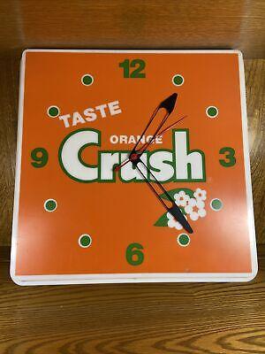 Vintage Orange Crush Advertising Clock Bright Orange Color PARTS ONLY
