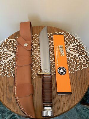 "Vintage Marbles Gladstone, MI Trailmaker Knife W/ Leather Sheath 10"" Blade NOS"