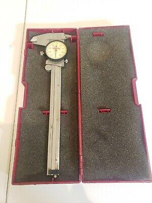 Starrett 120a-6 6 Dial Caliper Wcase Pre Owned