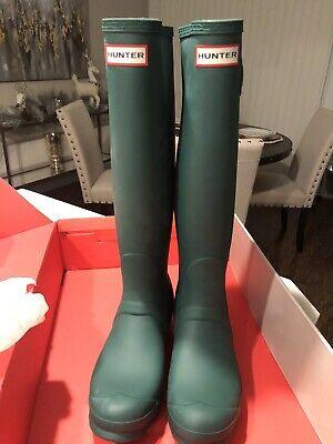Hunter Boots Aqua (Hunter Women's Original Tall Rain Boots - Green W/)