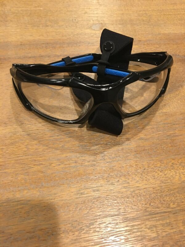 Python Full Framed  ClearLense/black Frame Racquetball Eye Protection Pickleball