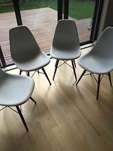 Four Matt Blatt White DSW Chairs Beaumaris Bayside Area Preview
