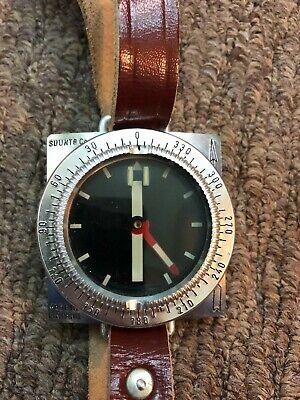 Vintage wrist Compass Suunto Oy Co Helsinki Finland Military - RARE