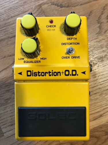 Extremely Rare MIJ Solec Overdrive / Distortion Pedal - Inc original box