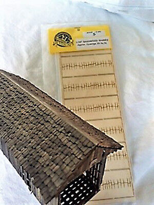 ACTUAL WOODEN SHAKES S Scale Model Railroad Structure Wood Kit HLSSS