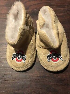 Ohio State Buckeyes Baby Slippers, Size Xl