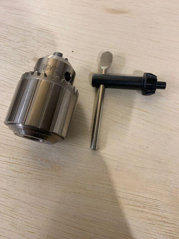 "New JACOBS Threaded Drill Chuck 33BA 5/8-16 5/64 To 1/2"" Capacity With Key"