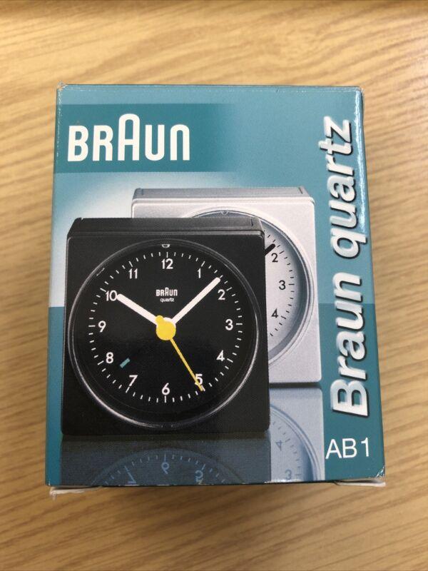 Braun+Quartz+Battery+Alarm+Clock+Square+Silver