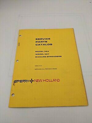 New Holland Service Parts Catalog Model 363 367 Manure Spreader 8-81