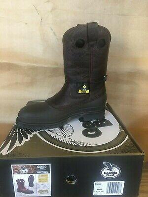 Georgia 5655 Muddog Mud Dog Pull on Steel Toe Wellington Boots All Sizes M-W