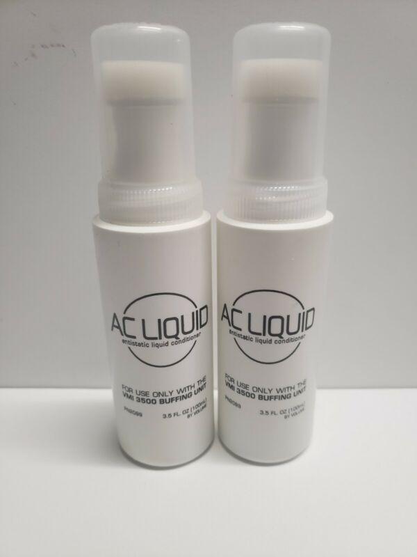 (2) AC Liquid Antistatic Liquid Conditioner 3.5 Fl Oz For VMI 3500 Buffing Unit