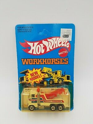 Hot Wheels WORKHORSES Rig Wrecker No.3916 ©1981 - UNPUNCHED - Vintage! NOS!!