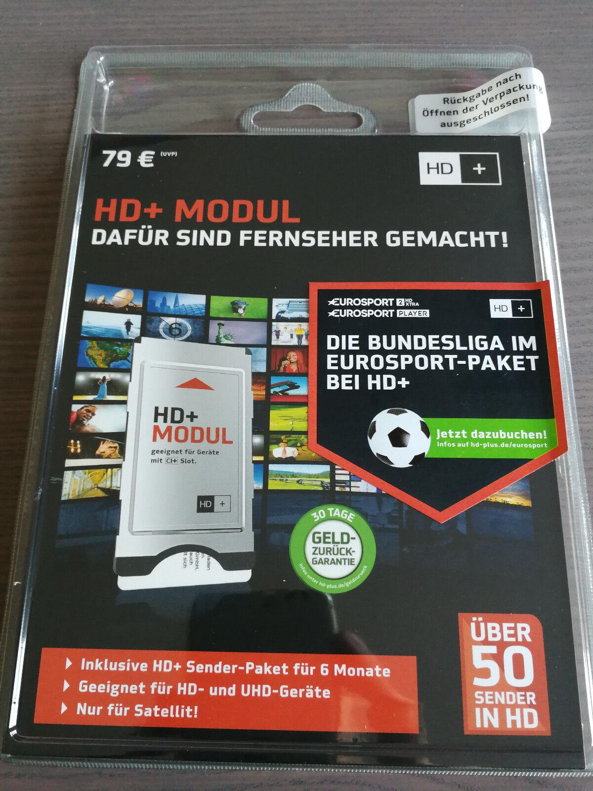 UHD/4K fähiges HD+CI+Modul für ASTRA-Sat +Smartcard für 6 Monate +HDMI-Kabel
