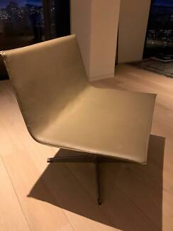 """""""Agnes"""" Leather Swivel Chairs - 2 units available"""