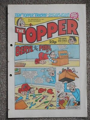 The Topper Comic 1st August 1987 (Issue 1800)