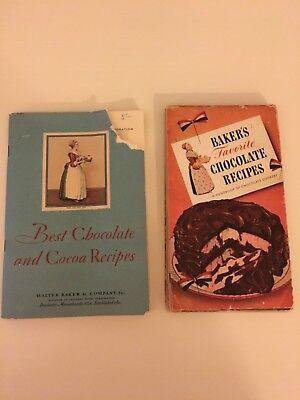 Vintage Bakers Chocolate Recipes Cookbooks