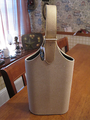 Wine Carrier Color (New Champagne glitter 2 bottle wine carrier tote with champagne color)