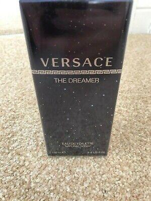 RRP £58 Versace The Dreamer Eau de Toilette natural Spray 100ml Mens NEW A1