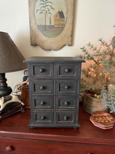 Primitive Black over Red  Apothecary  8 Draws