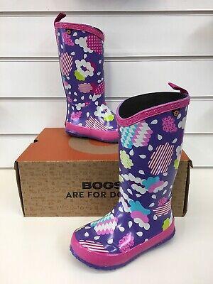 Bogs Kids Clouds K Wellingtons In Purple Multi ( New Style) - Purple Multi Schuhe