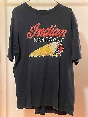 Vintage Indian Motorcycle t shirt XL black Harley Davidson biker