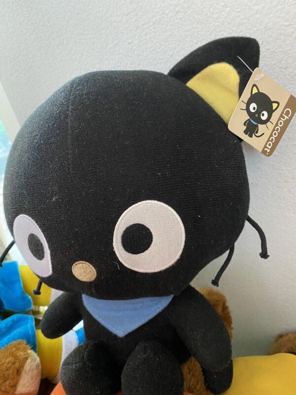 "Sanrio Fiesta Chococat 12"" Plush Black Cat Stuffed Toy 2012 With Tags"
