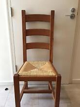 French Country dining chairs with rush seating - set of 8 Mosman Mosman Area Preview