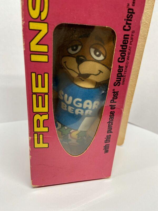Vintage Post Super Golden Crisp Stuffed Sugar Bear Toy Premium 1988 New In Box