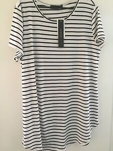 L Striped cotton shift dress New with tags $15 Alderley Brisbane North West Preview