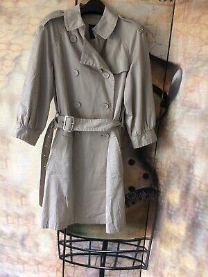 Gap Trench Coat Mac Size S/P 10 Ivory cream colour 3/4 sleeves