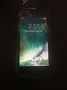 Unlocked iPhone 5 with cracked screen