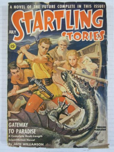 Scarce Startling Stories July 1941 Earle Bergey Cvr - Gateway to Paradise