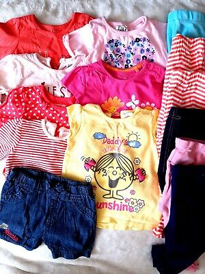 Baby Girl Clothes Bundle 6-9 Months Leggins tops Summer most items never worn