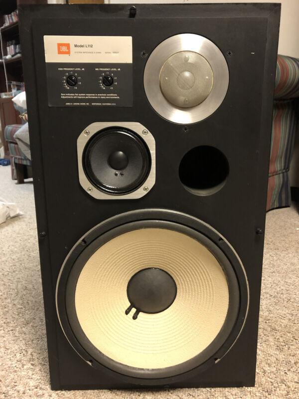 JBL L112 Speaker (one speaker) Vintage Hi Fi 1982